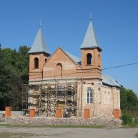 Church under construction in Pogrebishche, Погребище