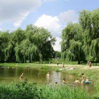 пляж на річці, Владимир-Волынский