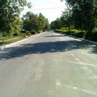 Двор-дорога больницы (сфотографировано через забор) 16.07.2010, Камень-Каширский