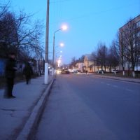 Shakhtarska st. at evening, Нововолынск