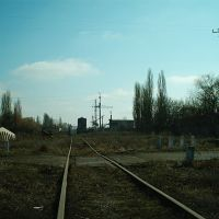 Ветка на разрушенный завод ЖБИ. 2004., Апостолово