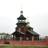 Wooden church & bells. Деревянная Свято-Николаевская церковь и почтовое отделение., Васильковка