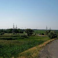 Вид с Буровского моста в сторону Горняцкого. 04.06.2011, Горняцкое