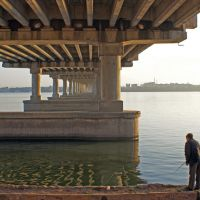 Ах! Рыбалка... - Fishing under the bridge, Днепропетровск