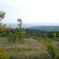 Вид с горы у с. Зеленое, Зеленое