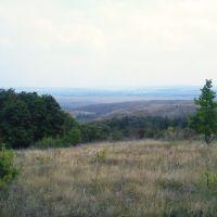 Вид с горы на село Криштоповка, Зеленое
