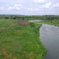Вид с моста на север, Ингулец