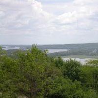 Вид на Дніпро з Карнаухівки, Карнауховка