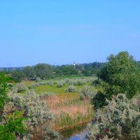 Вид на Свято-Троицкий храм в поселке  Городище (г.Марганец), Марганец