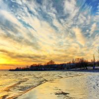 Закат в последний день марта, Никополь
