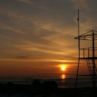 Зимний закат на пляже, Никополь