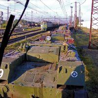 Перевозка военной техники. Новомосковск., Новомосковск