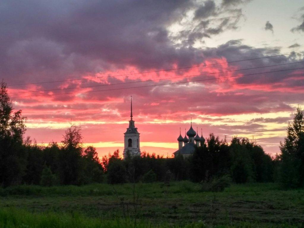 Закат в Костроме, Кострома
