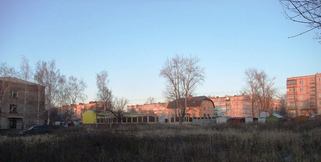 Вид на улицу Советскую со стороны хлебозавода, Болохово