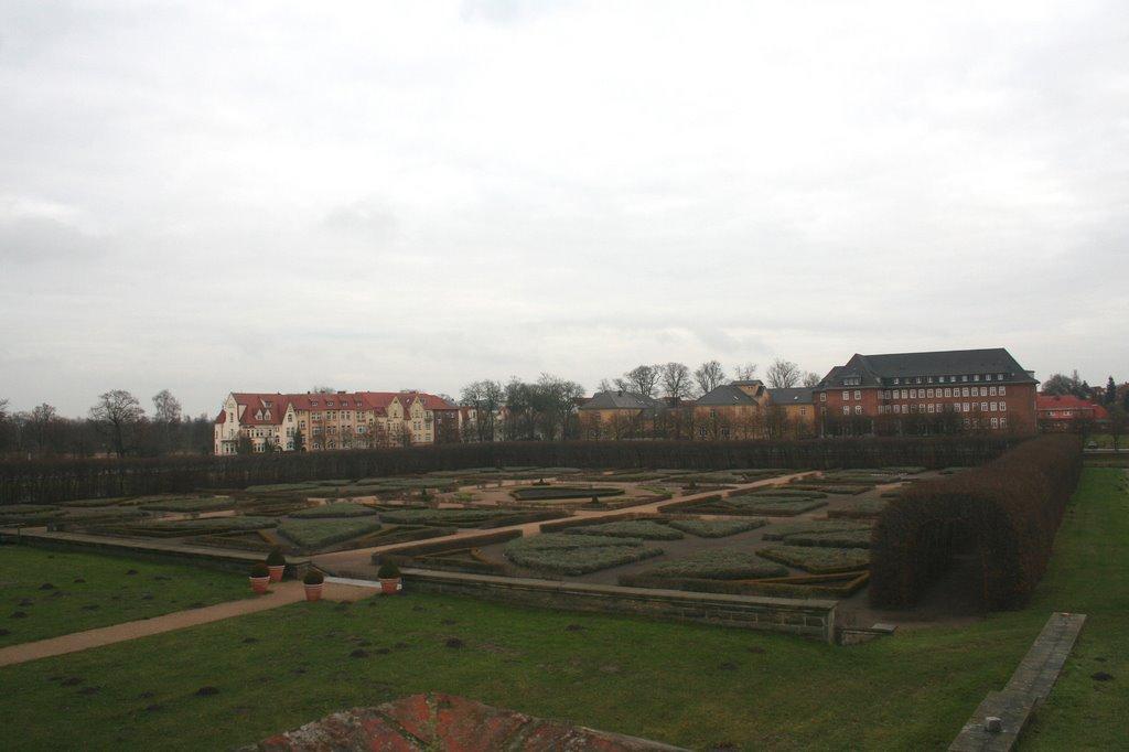Güstrow Blick auf den Schloßpark 05.12.2007, Гюстров