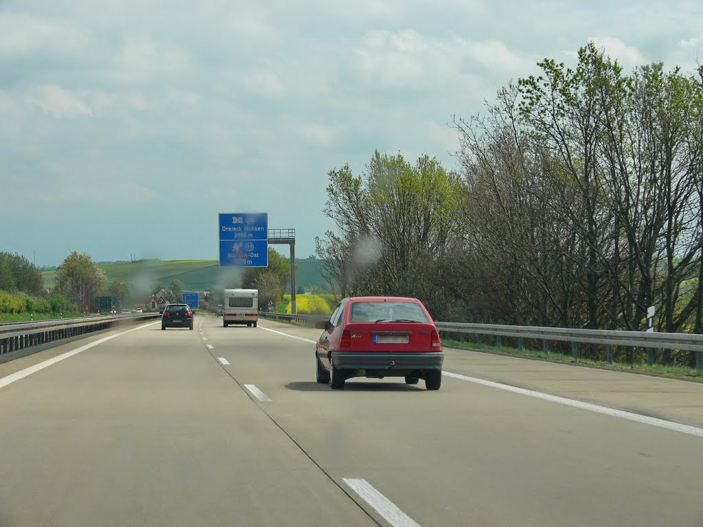 Road A14, Germany, Радебюль
