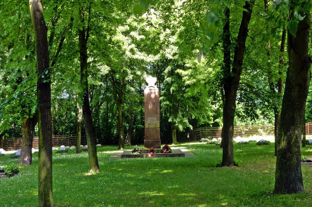 sowjetischer Ehrenfriedhof im Klemmberg Park Weißenfels, Вейссенфельс