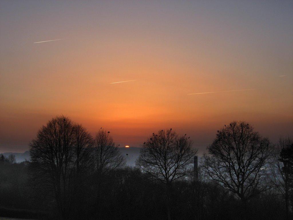 Sonnenuntergang auf dem Österberg, Фрейберг