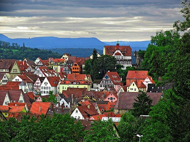 Blick vom Tübinger Schloss, Хейденхейм-ан-дер-Бренц