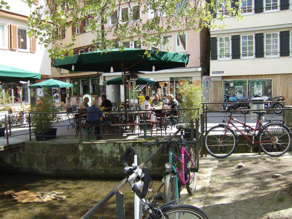 Tübingen, Straßencafe am Ammerkanal, Хейлбронн