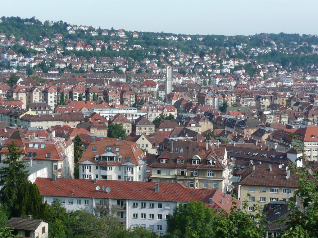 Ausblick von der Hasenbergsteige auf Stuttgart, Штутгарт