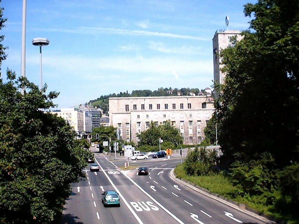 Stoccarda, vista della stazione dal parco, Штутгарт