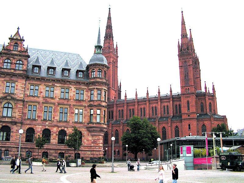 Rathaus und Marktkirche, Висбаден