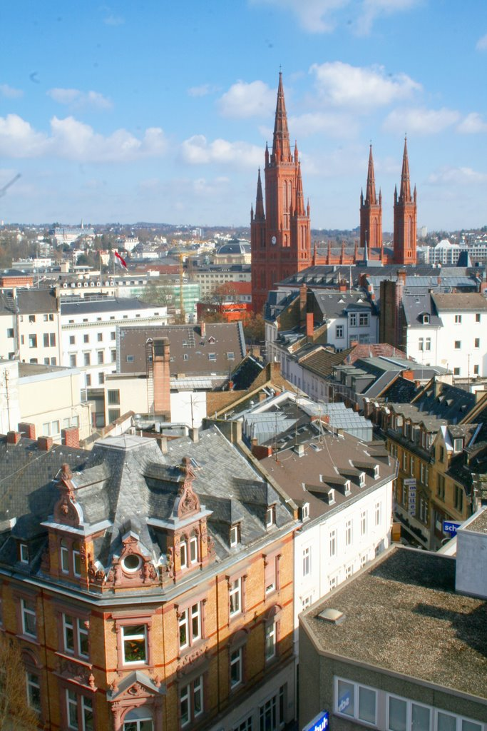 Ellenbogengasse und Marktkirche, Висбаден