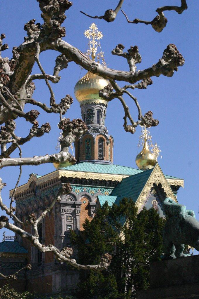 Platane küsst Russische Kapelle, Дармштадт