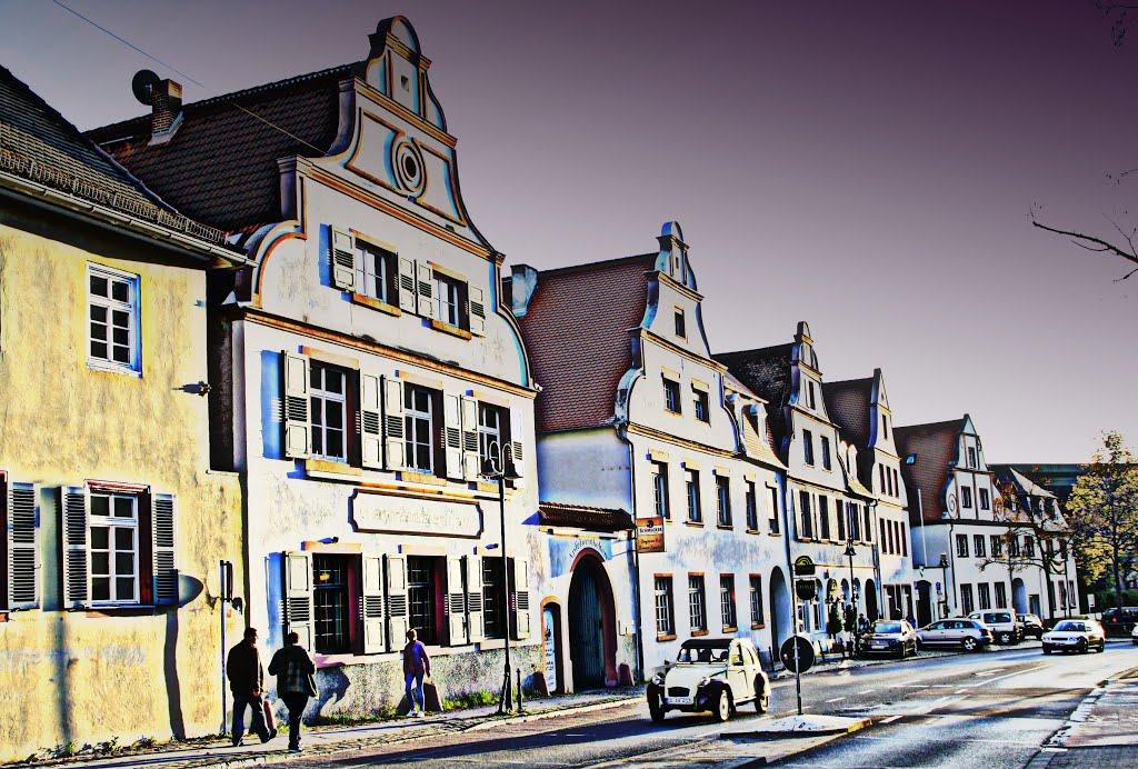 Zeitreise .Darmstadt-Alexanderstraße im Jahr 2012., Дармштадт