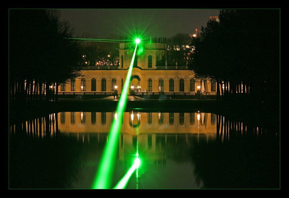 Orangerie Kassel mit Laser, Кассель