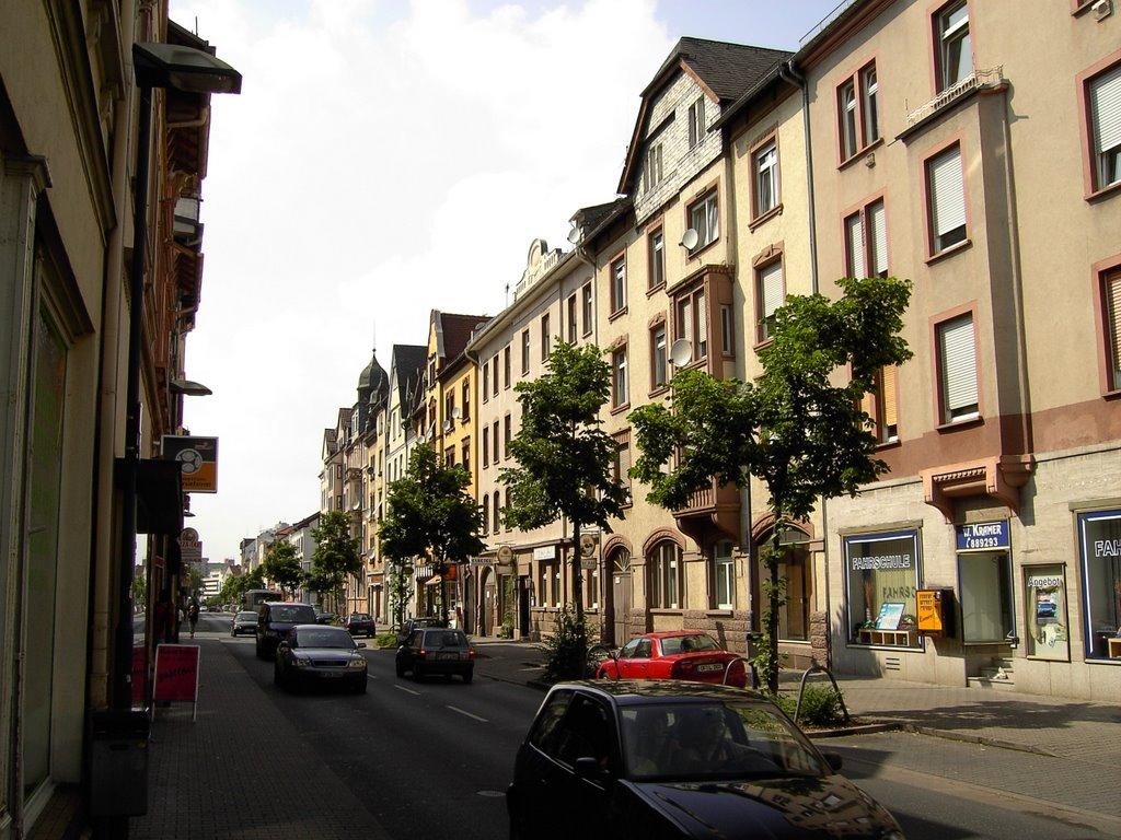 Offenbach: Häuser an der Bieberer Straße, Оффенбах