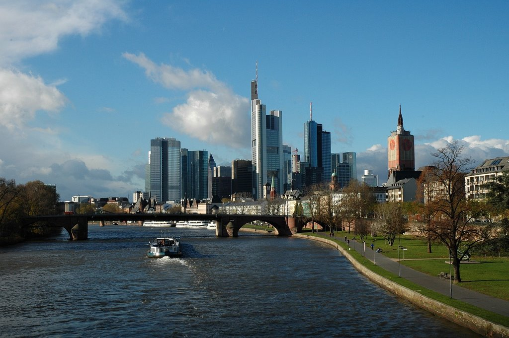 Germany, Frankfurt - Downtown & Main River, Франкфурт-на-Майне