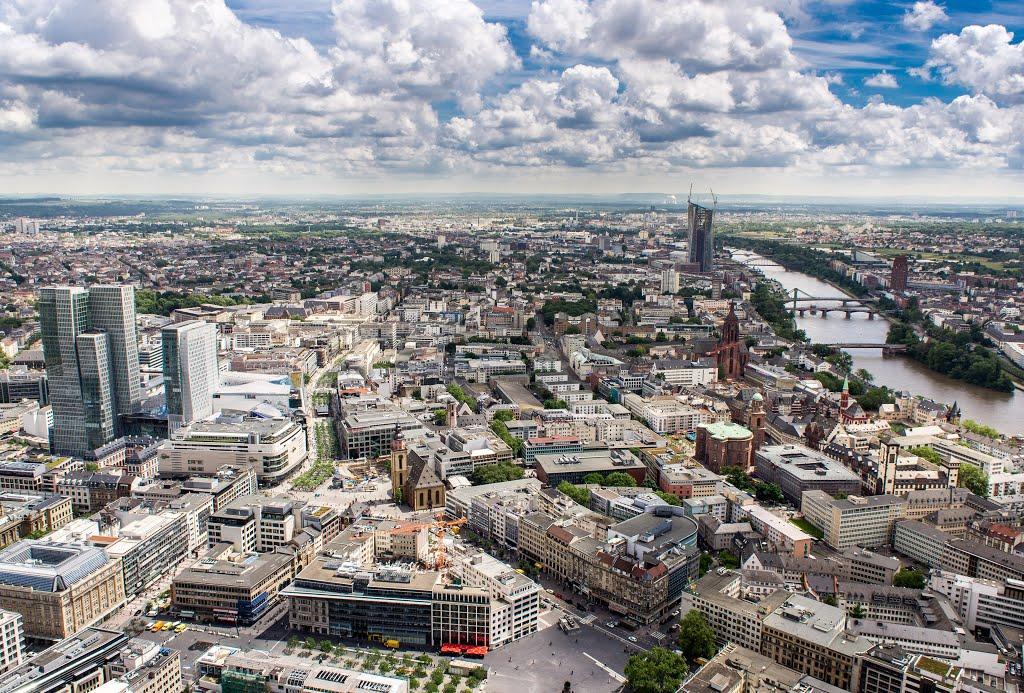 Frankfurt von oben, Франкфурт-на-Майне