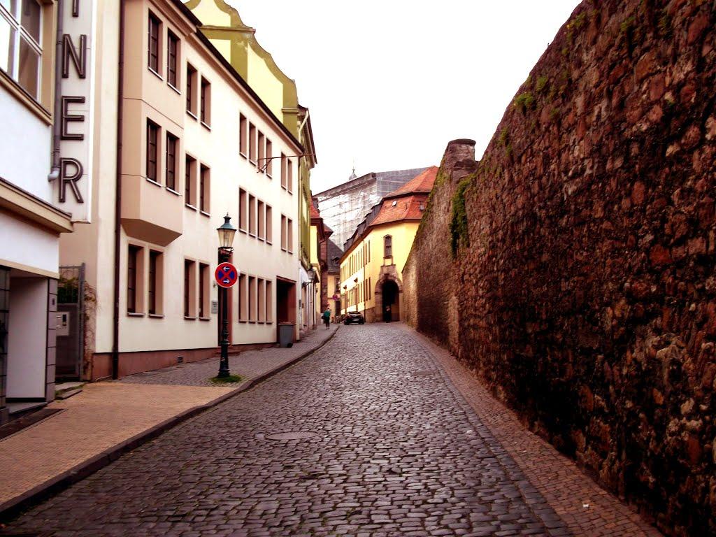 small street old city fulda, Фульда
