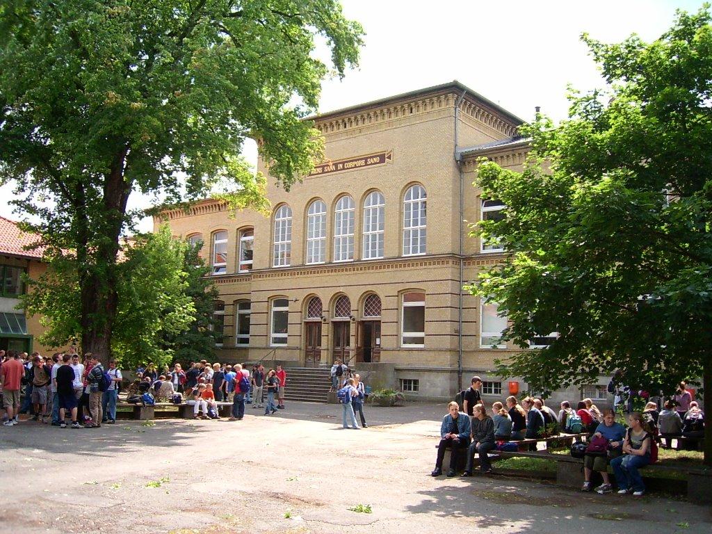 Große Schule, Schulhof, Волфенбуттель