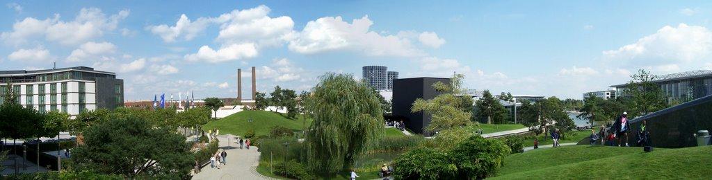 Autostadt in Wolfsburg vom Bentley Pavillion aus gesehen, Вольфсбург