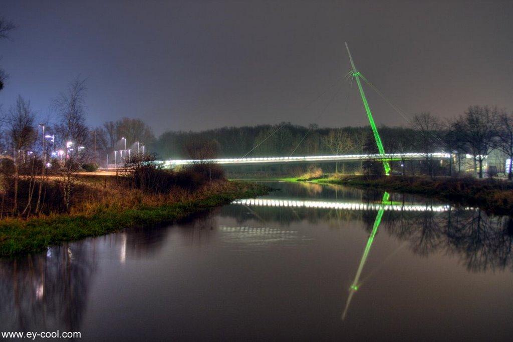 Allerbrücke Nachtaufnahme, Вольфсбург
