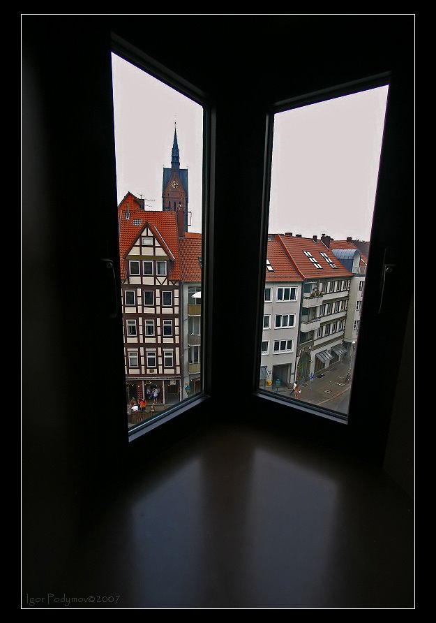 View to Market Church from Leibniz House, Ганновер