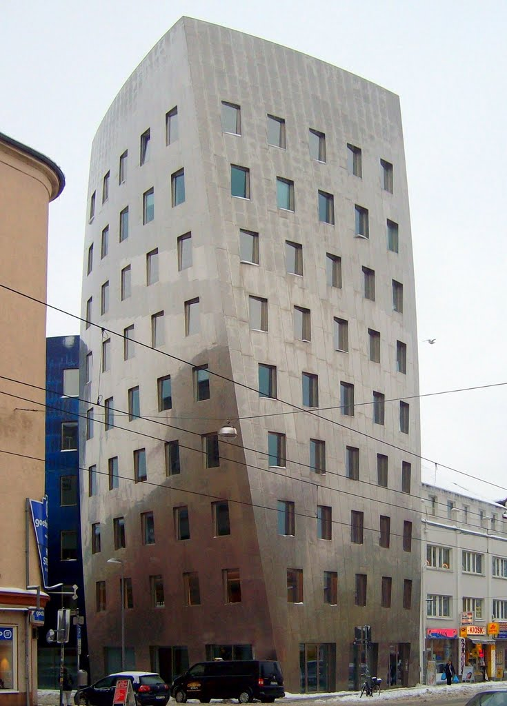 Gehry Tower - Der schiefe Turm von Hannover / The sloping tower of Hannover, Ганновер