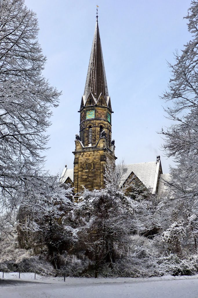 A winter day in Hannover: St. Markus, Ганновер