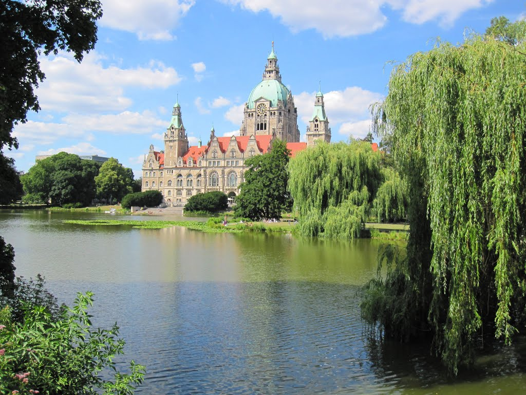 Rathaus, City hall and lake, Ганновер
