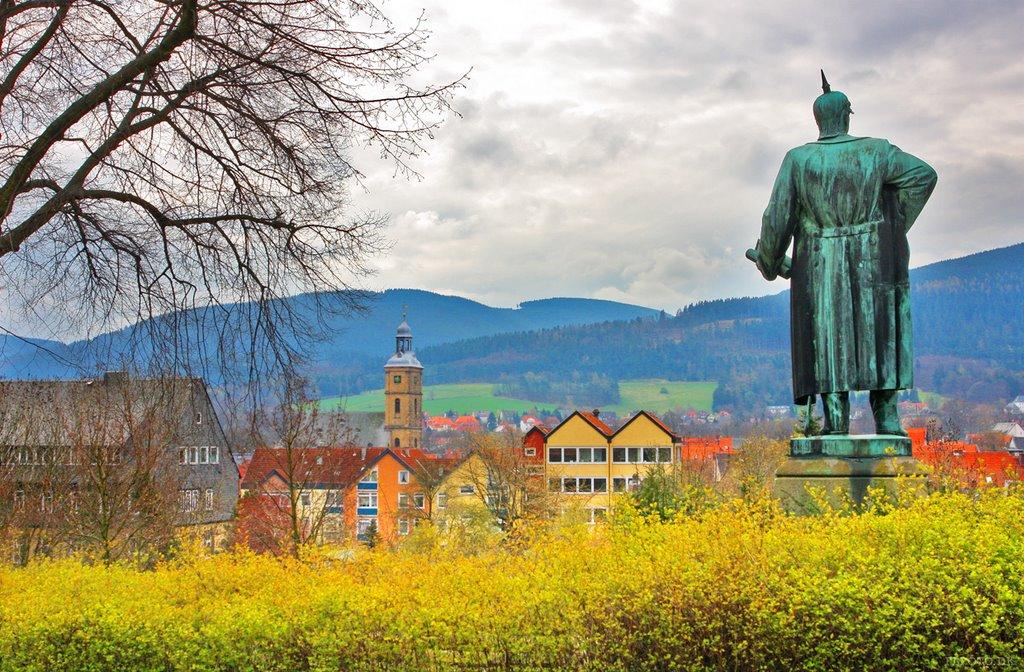 Otto von Bismarck watching Goslar, Гослар