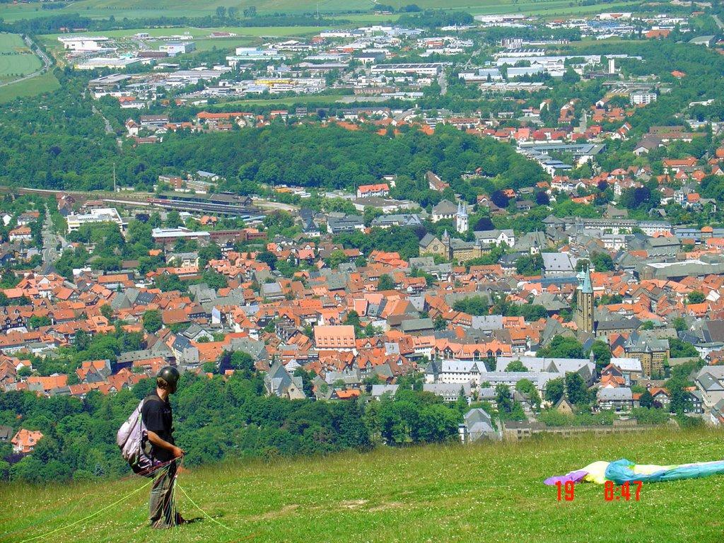 Goslar desde el cerro Rammelsberg, Гослар