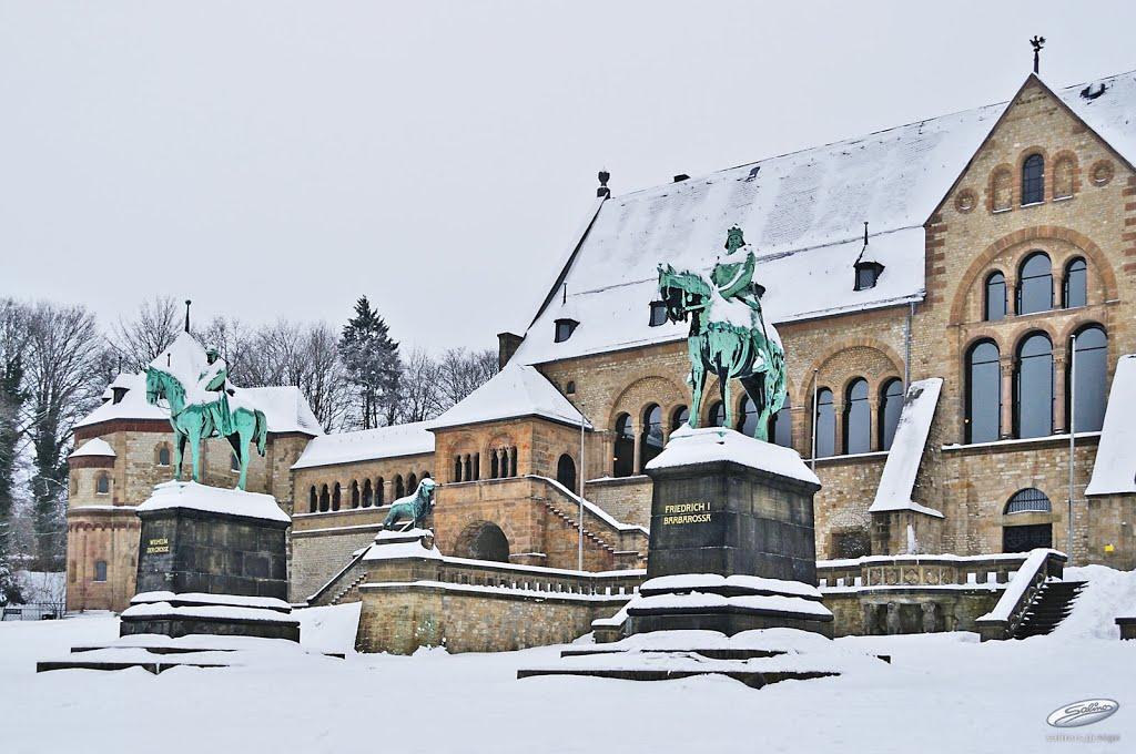 Aristokratentreffen Barbarossa und Wilhelm I – Kaiserpfalz Goslar - (C) by Salinos_de NI, Гослар