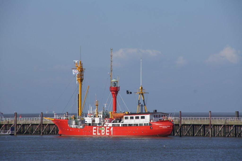 Feuerschiff Elbe 1 im Hafen von Cuxhaven, Куксхавен