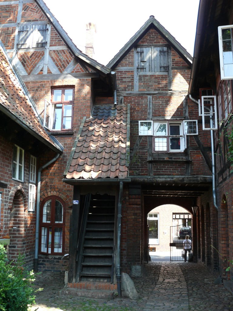Lüneburg Rote-Hahn-Str. Hinterhof, Лунебург