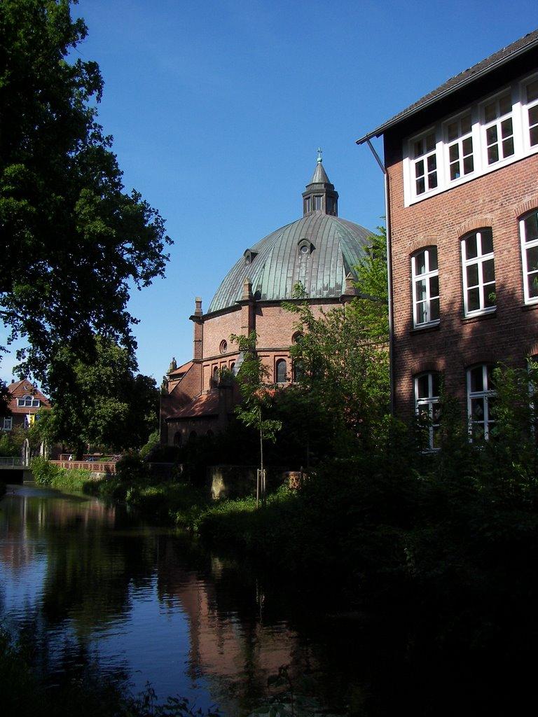 Vechte, Höhe Augustinus Kirche und Burgschule, Нордхорн