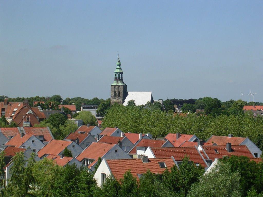 Nordhorn - Blick vom Povelberg auf die Innenstadt, Нордхорн