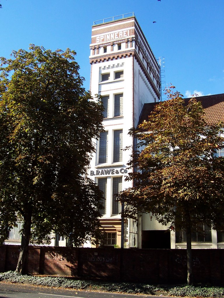 alter Spinnerei Turm der Firma Rawe, Нордхорн